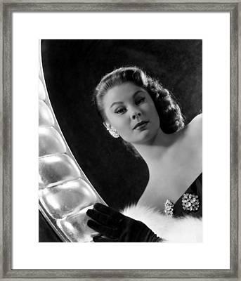 Mitzi Gaynor, Ca. Early 1950s Framed Print by Everett