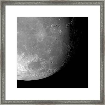 Moon's Surface Framed Print by Detlev Van Ravenswaay