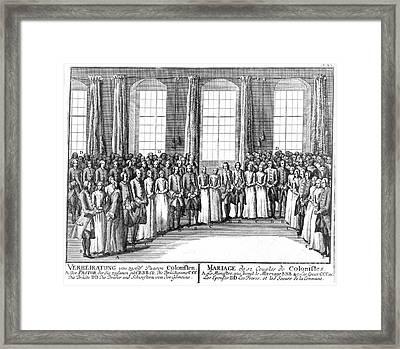 Moravians, 1757 Framed Print by Granger