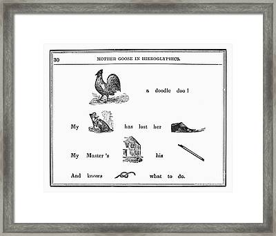 Mother Goose, 1849 Framed Print