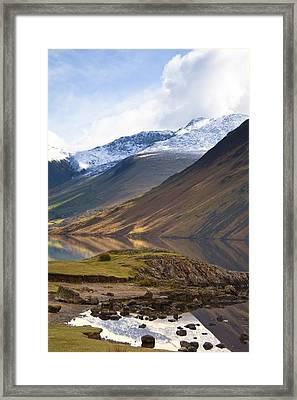 Mountains And Lake, Lake District Framed Print by John Short