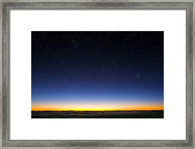 Night Sky Framed Print by David Nunuk