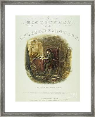 Noah Webster (1758-1843) Framed Print