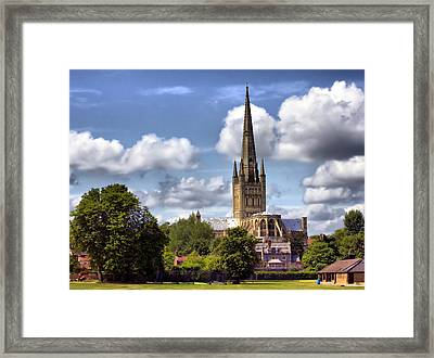 Norwich Cathedral Norfolk England Framed Print by Darren Burroughs