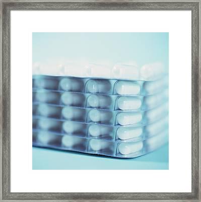 Pills Framed Print by Cristina Pedrazzini