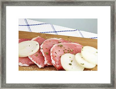 Pork Chops Raw Framed Print