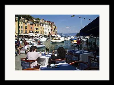 Portofino Cafe Photographs Framed Prints