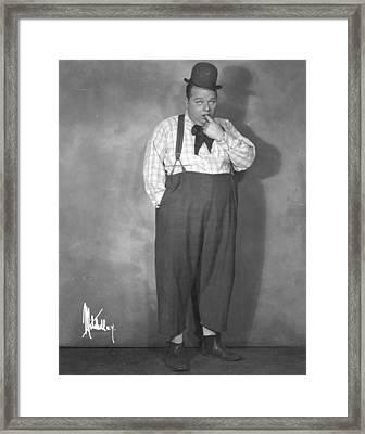 Roscoe Fatty Arbuckle Framed Print by Granger