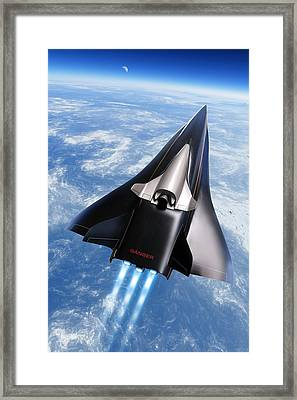 Saenger Horus Spaceplane, Artwork Framed Print by Detlev Van Ravenswaay