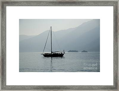 Sailing Boat Framed Print by Mats Silvan
