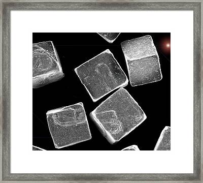 5 Salt Crystals M Framed Print