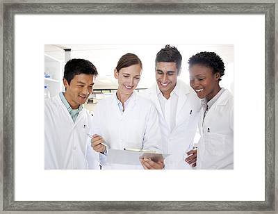 Scientists Framed Print by