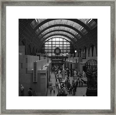 5 Seconds In The Musee D'orsay Framed Print by Loud Waterfall Photography Chelsea Sullens