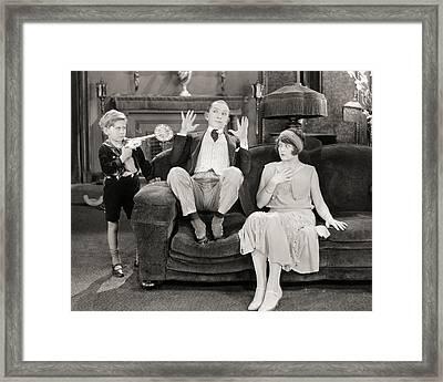 Silent Film Still: Guns Framed Print by Granger