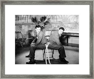 Silent Still: Two Men Framed Print by Granger