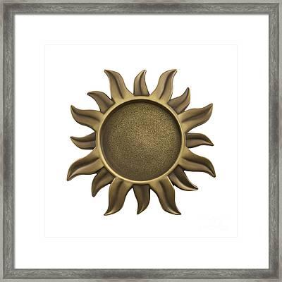 Sun Star Framed Print by Blink Images