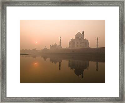 Taj Mahal, Agra, India Framed Print by Keith Levit