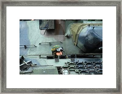 Tank Driver Of A Leopard 1a5 Mbt Framed Print