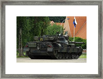 The Leopard 1a5 Mbt Of The Belgian Army Framed Print