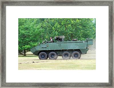 The Piranha IIic Of The Belgian Army Framed Print