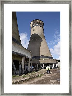 Tinsley Cooling Towers Demolition Framed Print