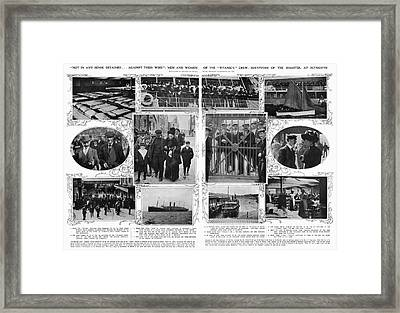 Titanic: Survivors, 1912 Framed Print by Granger