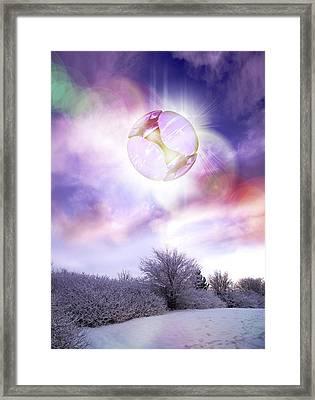 Ufo, Artwork Framed Print by Victor Habbick Visions