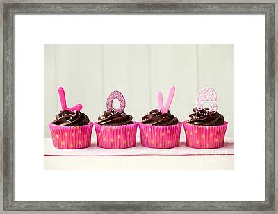 Valentine Cupcakes Framed Print by Ruth Black