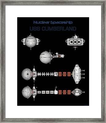5 Views Of The Uss Cumberland Framed Print