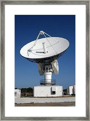 50-foot Dish Antenna At Kennedy Space Framed Print