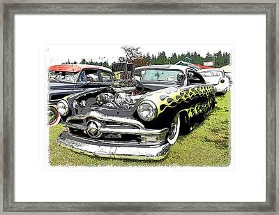 50 Ford Hot Rod Framed Print by Steve McKinzie