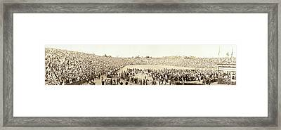 50,000 People Greeting President Framed Print by Everett