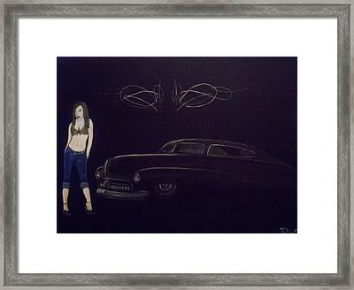 50's Led Sled Framed Print by Stanley Whitehouse