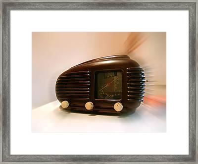 50's Radio Framed Print by Alessandro Della Pietra