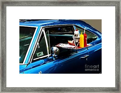 50's Take Out Framed Print by Darleen Stry