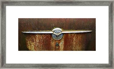 54 Buick Emblem Framed Print by Steve McKinzie