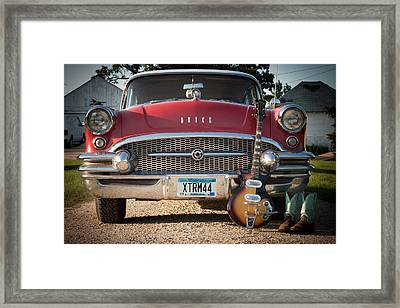 55 Buick Special With 1957 Magnatone Mark V Guitar Framed Print by Toni Thomas