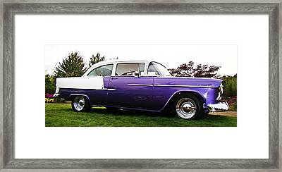 Framed Print featuring the photograph 55 Chevy by Nick Kloepping