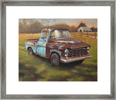 55 Chevy Truck Framed Print