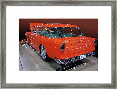 Framed Print featuring the photograph 55 Mad Orange by Bill Dutting