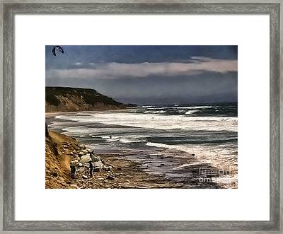 556 Cf Parasailing Framed Print by Chris Berry