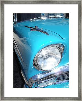 56 Chevy Bel Air Convertible Framed Print by Kerry Browne