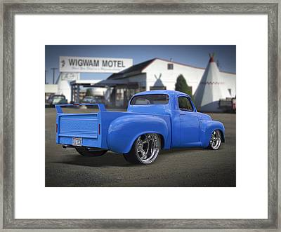 56 Studebaker At The Wigwam Motel Framed Print by Mike McGlothlen