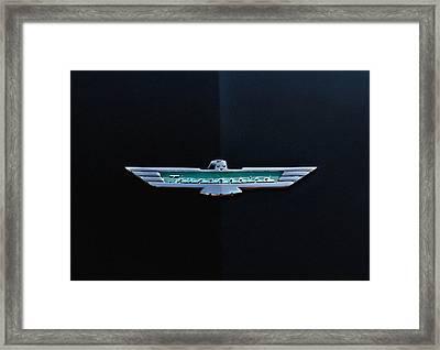 '56 T Bird Badge Framed Print