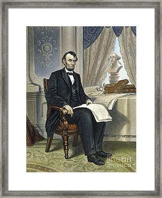 Abraham Lincoln Framed Print by Granger