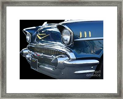 57 Chevy Bel Air Hardtop Front Framed Print by Kerry Browne
