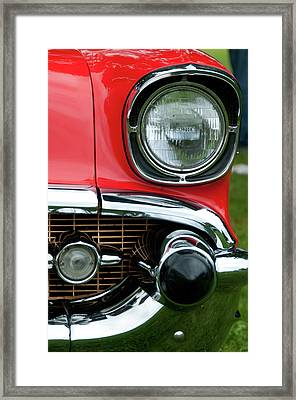 57 Chevy Left Front 8560 Framed Print by Guy Whiteley