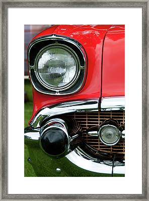 57 Chevy Right Front 8561 Framed Print by Guy Whiteley