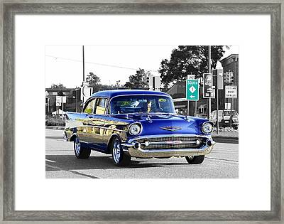 57 Chevy Selective Color Framed Print