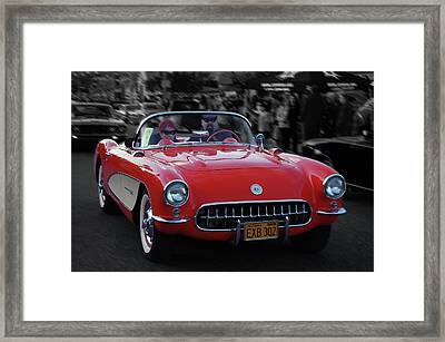 Framed Print featuring the photograph 57 Fuel Injected Vette by Bill Dutting